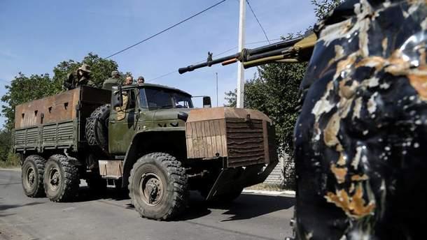 Военная техника на Донбассе