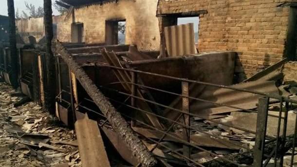 Свиноферма після пожежі