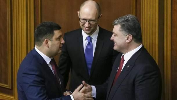 Володимир Гройсман, Арсеній Яценюк та Петро Порошенко