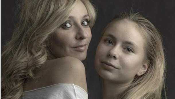 Татьяна Навка и ее дочь Александра