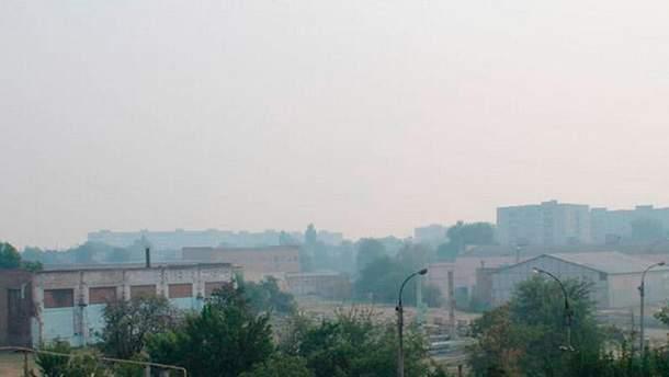 Дым в Черкассах
