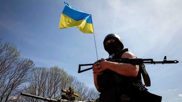 Украинский военный в АТО