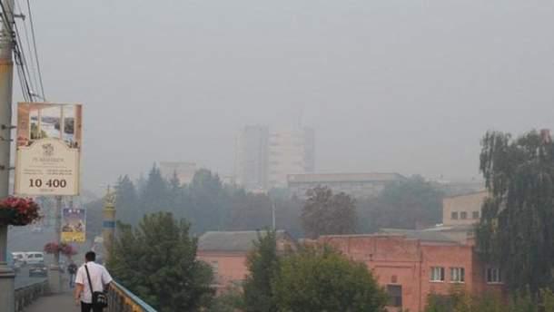 Вінниця в диму