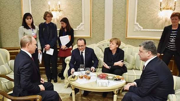 """Зустріч лідерів """"нормандської четвірки"""" у Мінську"""