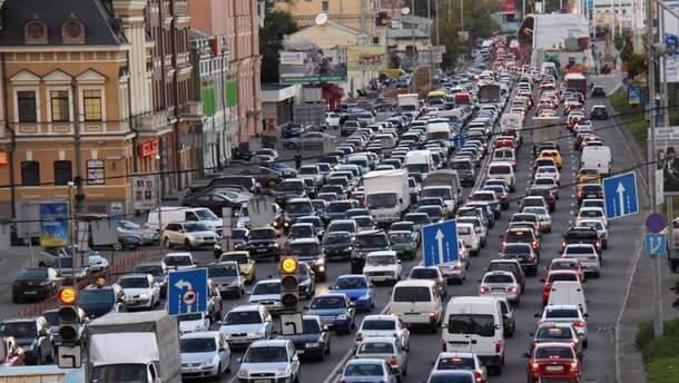 Пробки в столице