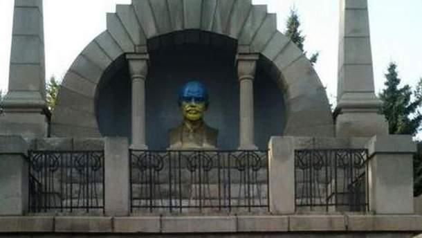 Синьо-жовтий Ленін