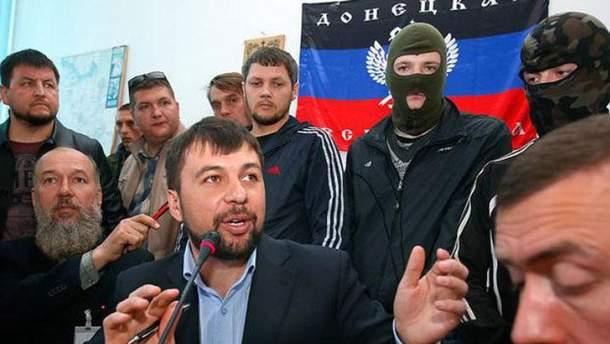 Денис Пушилин с боевиками