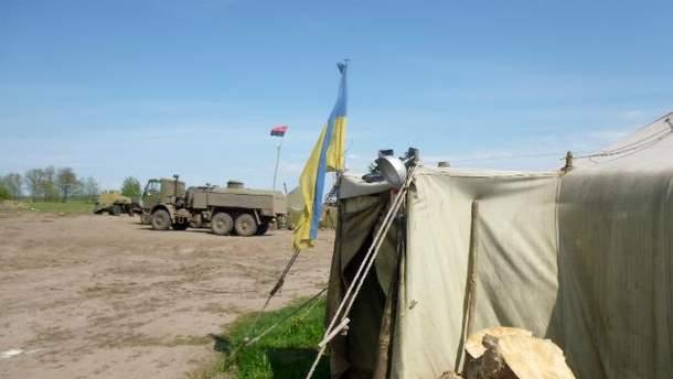 Террористы обстреляли украинских военных из гранатомета