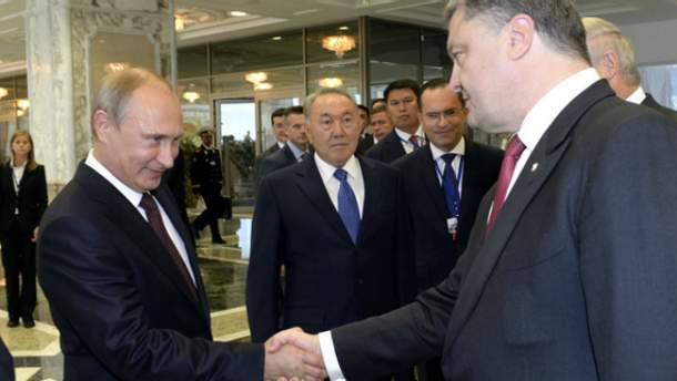 Петро Порошенко і Володимир Путін