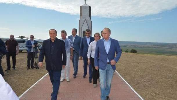 Берлускони и Путин в Крыму