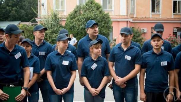 Михаил Саакашвили с одесской полицией