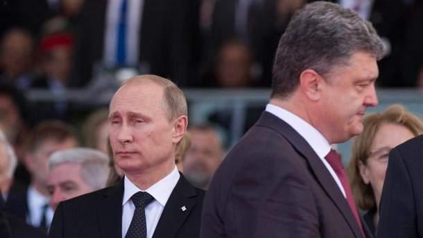 Володимир Путін та Петро Порошенко