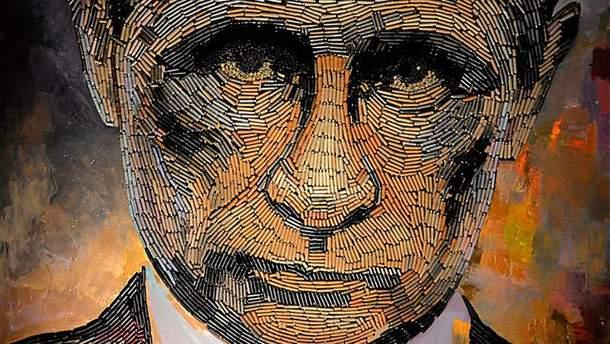 Портрет Путина из патронов