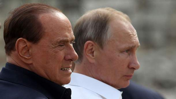 Сильвио Берлускони и Владимир Путин в Севастополе