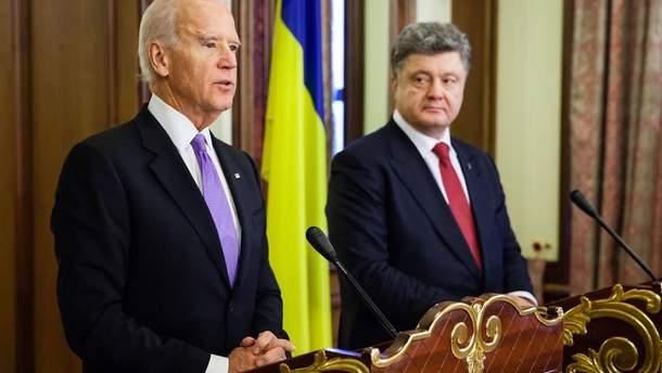 Джо Байден, Петро Порошенко