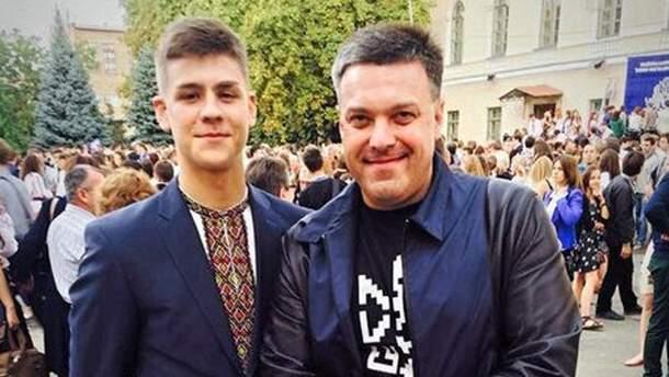 Гордий Тягнибок с отцом