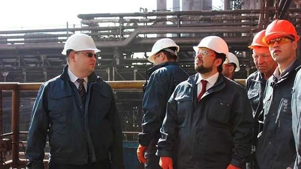 Денис Пушилін на заводі Ахметова