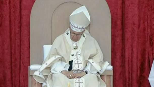 Папа Римский уснул