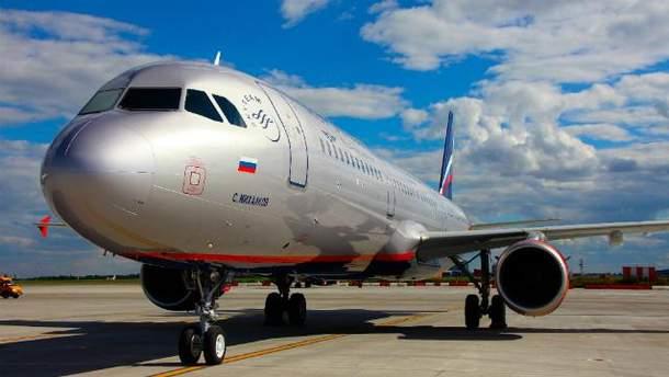 Літак російської авіакомпанії