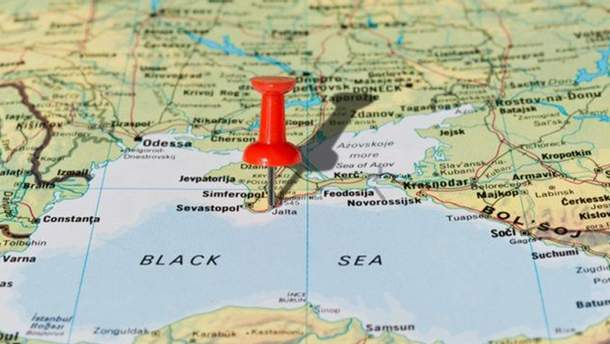 Крим на карті