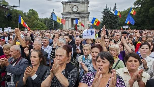 Антиправительственные протесты в Молдавии