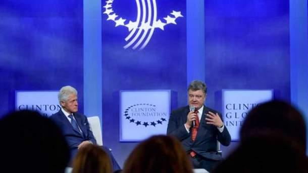 Порошенко в гостях у Клинтона просил о трансатлантическом единстве