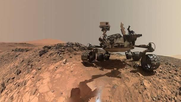 """""""Селфи"""" Curiosity Mars на планете Марс"""