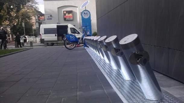 Стнация муниципального проката велосипедов во Львове
