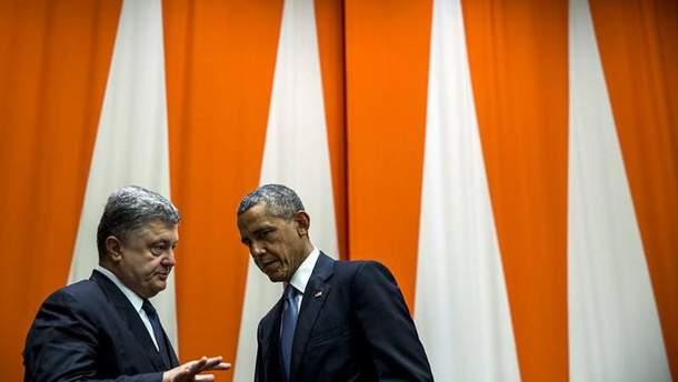 Петр Порошенко и Барак Обама
