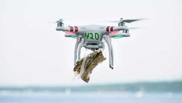 10 килограмм марихуаны прилетело в дом