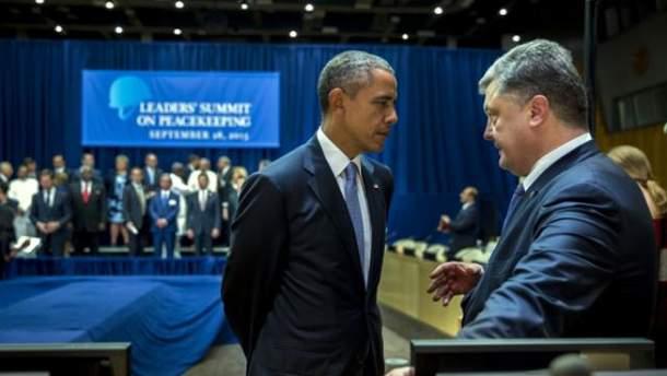 Барак Обама, Петро Порошенко