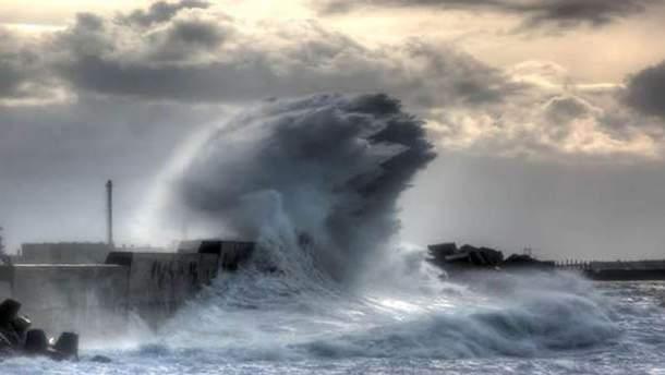 Шторм на морі (ілюстрація)