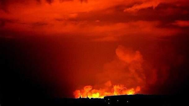 Пожар на складе боеприпасов в Сватово