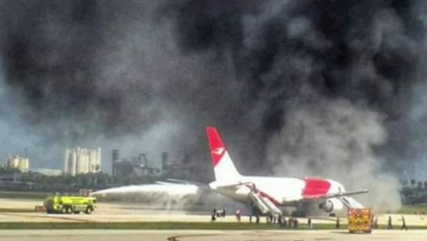 Загорівся літак