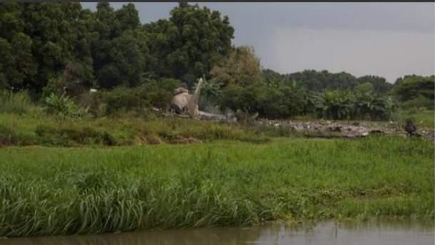 Разбился самолет в Африке