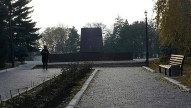 На Харківщині знесли Леніна