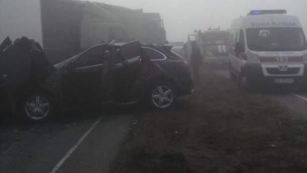 Місце аварії у Дніпропетровській області