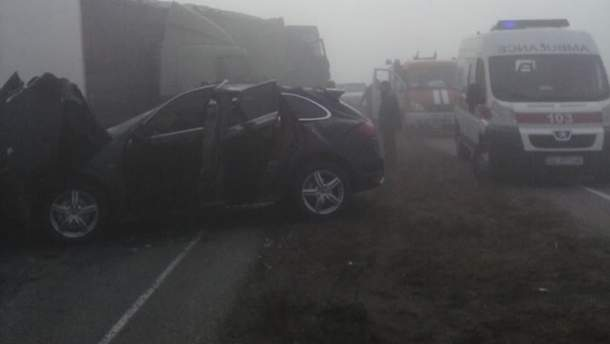 Место аварии в Днепропетровской области