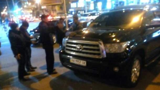 Поліція оштрафувала автомобіль Кличка