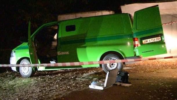 Машина после нападения