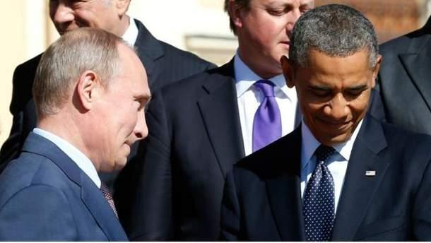 Володимир Путін і Барак Обама