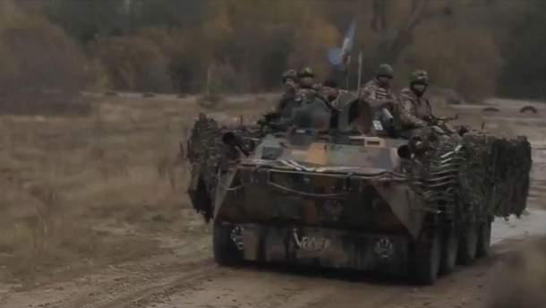 Десантники с 95-й бригады на тренировке
