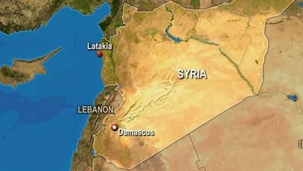 Карта Сирії