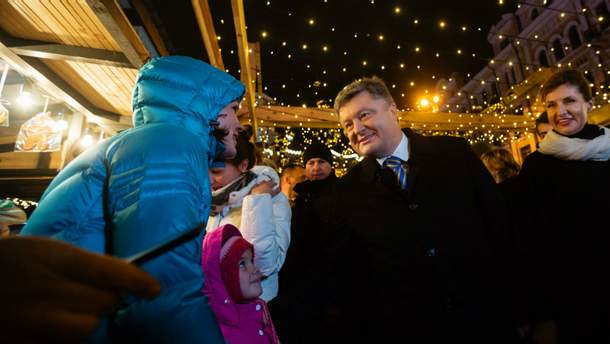 Петро Порошенко з дружиною