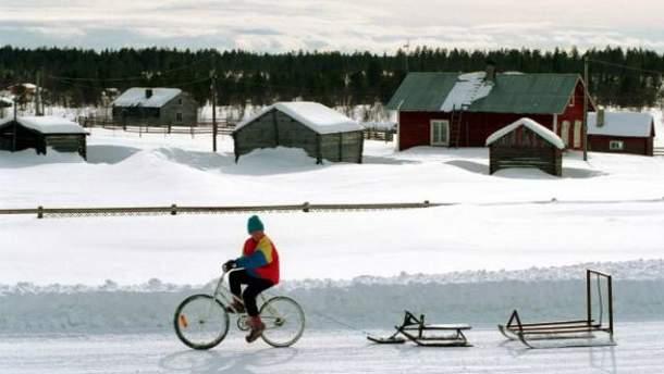 Человек на велосипеде