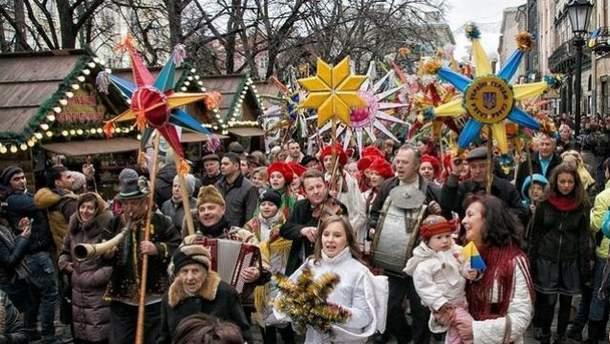 Украинцы празднуют Рождество