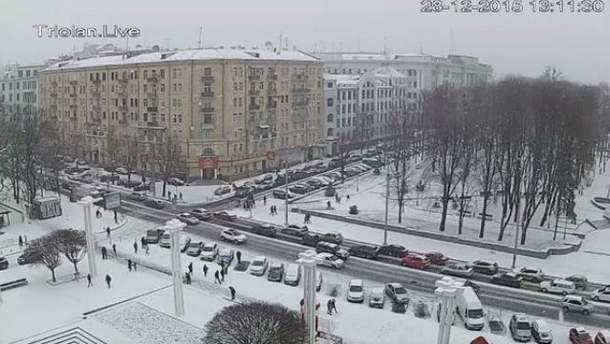 Снег в Харькове