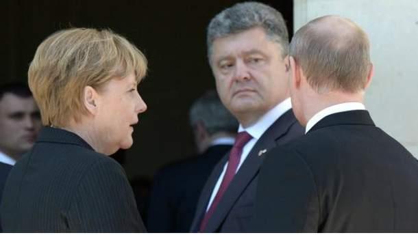 Порошенко, Меркель і Путін