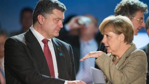 Порошенко та Меркель