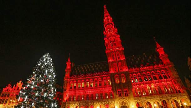 Новогодняя елка в Брюсселе